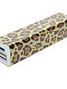 2600mAh portátil Leopard Print móvel Banco de alimentação externa para o iPhone e Outros (5V 0.8A, 24 centímetros)