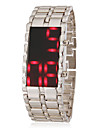 Men's Red Led Digital Dial Steel Band Wrist Watch Cool Watch Unique Watch