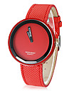 Женские Модные часы Кварцевый PU Группа Конфеты Черный Белый Синий Серебристый металл Красный Оранжевый Зеленый Розовый Фиолетовый Желтый