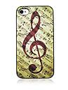 Музыка Примечание Назад Чехол для iPhone 4/4S