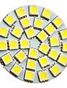 G4 Точечное LED освещение 30 SMD 5050 160-180 lm Холодный белый 6000 К AC 12 V