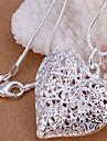 Ожерелье Ожерелья с подвесками Бижутерия Для вечеринок Повседневные В форме сердца Сердце Медь Подарок Серебряный
