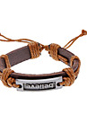 Unisex Believe Fabric Leather Bracelet(Random Color)