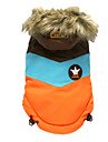 Dog Coat / Hoodie Orange / Pink Dog Clothes Winter Color Block Sports / Keep Warm