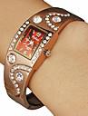 Plac damski Diamante Brown Dial Zespół Quartz Stop Watch Bransoletka Analog