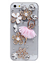 Ballet Skirt Flowers Pattern Metal Jewelry Back Case for iPhone 5C
