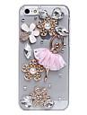 Балет юбки цветы шаблон металлические украшения Назад Чехол для iPhone 5C