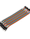 40Pin 1P-1P Male to Male Dupont Line Colorful Dupont Wire(20CM)