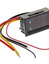 """0.28 """"LED Red + Dual-exibição Voltage Meter / Medidor de Ampere-Tensão Corrente Digital Azul - preto (10A)"""