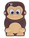Cartoon Style 3D Monkey Pattern Silicone Soft Case for iPhone 5C (Assorted Colors)
