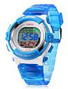 Детская цифровой ЖК Многофункциональный силиконовой лентой наручные часы (разных цветов)
