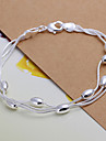 Sweet 20cm Women's Silver Copper Chain & Link Bracelet(Silver)(1 Pc) Christmas Gifts