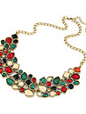 Women\'s Jewelry Luxury Festival/Holiday European Colorful Statement Necklace Synthetic Gemstones Resin Alloy Statement Necklace , Party