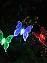 1pcs Solar Color-Changing Butterfly Garden Stake Light High Quality