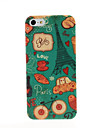 Paris Eiffel Tower Pattern Plastic Hard Case for iPhone 5/5S