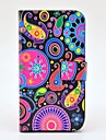 Colourful Jellyfish Pattern PU Leather Case with Magnetic Snap and Card Slot for Samsung Galaxy S3 I9300