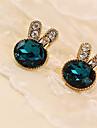 여성 스터드 귀걸이 합성 보석 크리스탈 라인석 모조 다이아몬드 합금 보석류 제품 일상 캐쥬얼