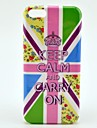 Keep Calm And Carry On UK Flag Pattern Plastic Protective Back Cover for iPhone 5C
