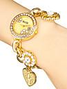 여자의 디아 망테 둥근 다이얼 꽃 악대 석영 아날로그 팔찌 시계 (분류 된 색깔)