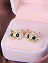 Moda brincos de diamante brincos coruja bem high-end E822