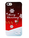 Christmas Series Father Christmas and Snowflake Pattern Hard Case for iPhone 5/5S