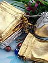50шт Золото и Серебро 5x7cm шнурок органзы сумка
