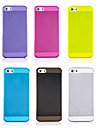 Case Transparent Joyland Solid Color TPU pour iPhone 5/5S (couleurs assorties)