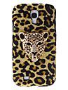 Fashion Design Leopard Pattern Hard Case with Rhinestone for Samsung Galaxy S4 I9500