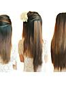 20 pouces clip en synthétique brun clair droit extensions de cheveux avec 2 Clips