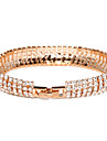 Women\'s Bangles Tennis Bracelet Crystal Alloy Gold Plated Simulated Diamond Unique Design Fashion Jewelry Jewelry 1pc