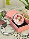 Εξατομικευμένη δώρων Ρίγη Style ροζ Chrome Compact Mirror