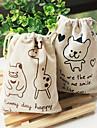 desenhos animados linda pequeno urso e saco de armazenamento padrão deerlet