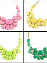 New Coming Fashion Elegant Candy Colorful Rhinestone Necklace Jewelry for Women