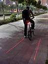 Велосипедные фары Задняя подсветка на велосипед Лазер Светодиодная лампа Велоспорт Водонепроницаемый ударный корпус Осторожно! Лазер