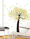 1pcs colorido removível flor amarela parede árvore adesivo