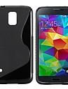 s 모양 iphone 은하 s5 i9600 은하 시리즈 케이스를위한 tpu 상자 / 덮개