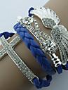 z&X® forma de anjo de asa gracioso com pulseira de couro wrap strass (1 pc) (mais cores)