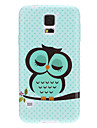 Sleeping Owl Spots Pattern TPU Soft Protective Back Case Cover for Samsung Galaxy S5 I9600