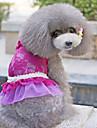 Собака Платья Одежда для собак Цветочные / ботанический Лиловый Синий Розовый Костюм Для домашних животных