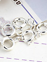 Cute Round Silver-Plated Clasps 10 Pcs/Bag