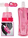 Colorful Sports Foldable Water Bottle with Belt Clip