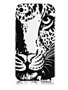 Leopard Head Pattern Silicone Soft Case for iPhone4/4S