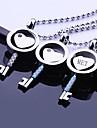 Персональный подарок Любовь Ключевые Shaped ювелирные изделия нержавеющей стали Гравировка кулон ожерелье с 60 см цепи
