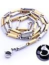 Colar Cadeia personalizado de presente do ouro e de prata joia de aco inoxidavel gravado 0,3 centimetros Largura