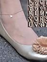 영어 알파벳 여성과 달콤한 간단한 체인을 shixin® 금 합금 맨발로 샌들 (27cm * 2cm 정도 * 2cm의) (1 개)