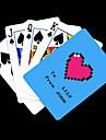 Patron regalo personalizado Corazon azul que juega la tarjeta de Poker
