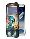 Cartoon Turtle Pattern Full Body Case with Window for Samsung Note2(N7100)