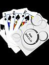 Regalo personalizado del patron de punto blanco que juega la tarjeta de Poker