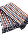 Женский Женский цвет ленты плоский кабель перемычки DuPont 40-проводной 1p-1p 2.54мм для (для Arduino) (20 см)