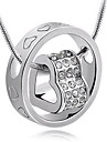 Z&X®  Fashion Ring (Heart) As Picture Alloy Pendant Necklace (1 Pc)